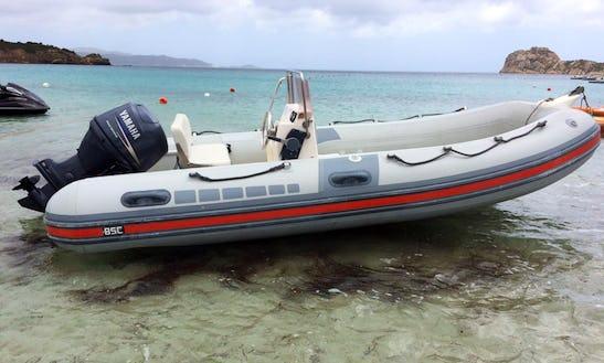 Rent 16' Bsc 45 Rigid Inflatable Boat In Teulada, Sardegna