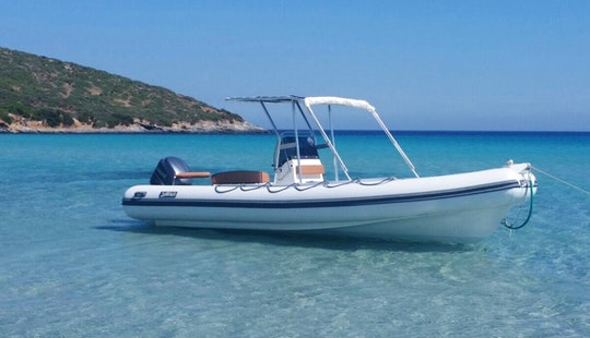 Rent 25' Bsc 45 Sea Water Smeralda Rigid Inflatable Boat In Teulada, Sardegna
