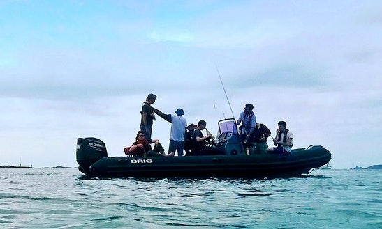 Enjoy Fishing In Saint-malo, France On Rigid Inflatable Boat