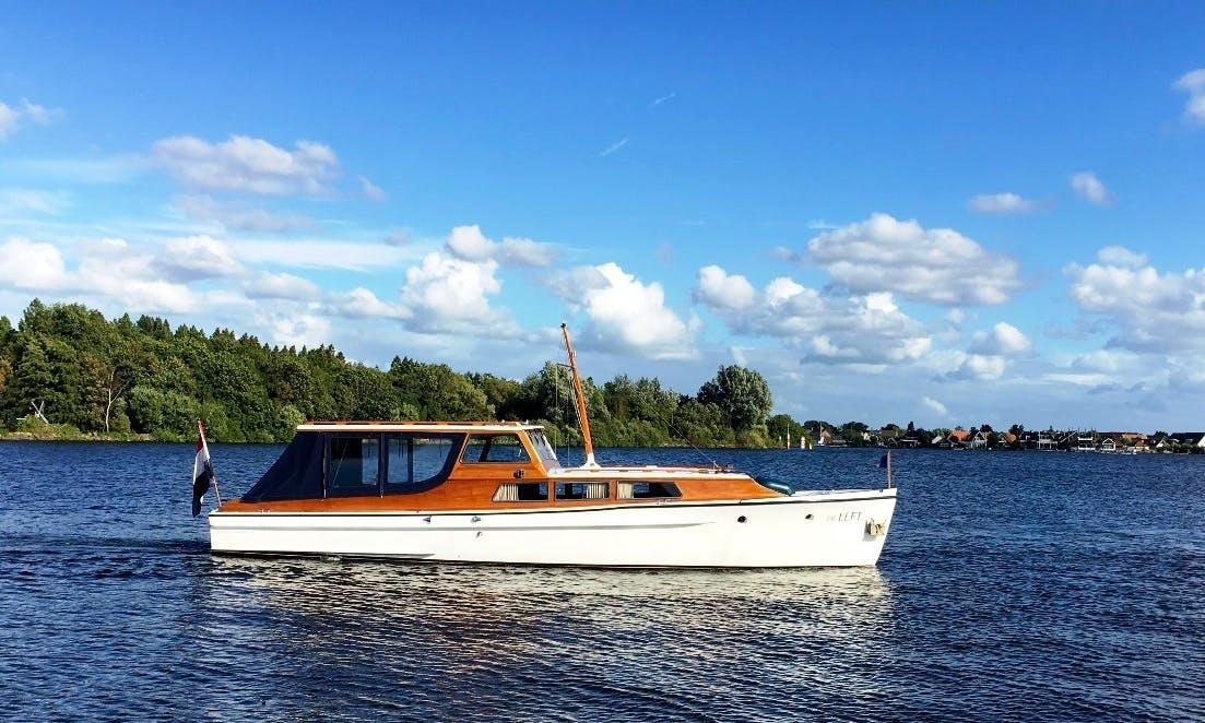 Motor Yacht rental on the lakes of Amsterdam (Kaag)