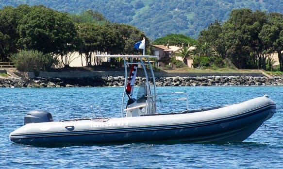Rent 20' Capelli Rigid Inflatable Boat in Santa-Maria-Poggio, France