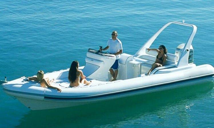 Rent 16' Arimar Sea Pioneer Rigid Inflatable Boat in Santa-Maria-Poggio, France