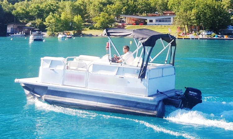 Charter 16' Family Pontoon in Savines-le-Lac, France