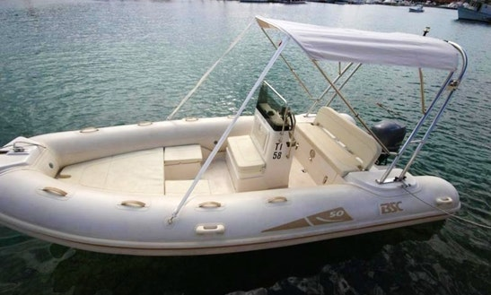 Rent 16' Bsc 50 Rigid Inflatable Boat In Porto Pino, Sardegna