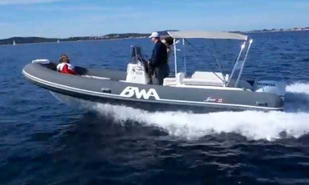 Rent a 12 people Rigid Inflatable Boat in Toulon, France for your next boating adventure