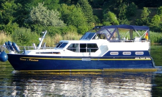 Charter 39' Aqua Yacht 1200 Motor Yacht In Rheinsberg, Germany