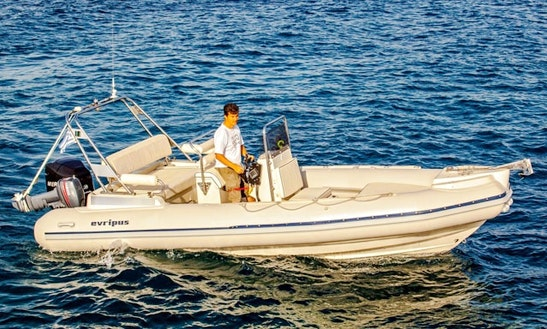21' Evripus 6.5m Rib Rental In Katakolo, Greece