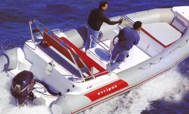 16' Evripus 5M RIB Rental In Katakolo, Greece