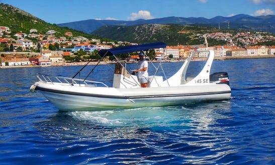 12 Person Susuzi Powered Rigid Inflatable Boat For Rent In Senj