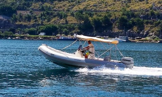 Rent 19' Zodiac Medline Rigid Inflatable Boat In Dubrovnik, Croatia