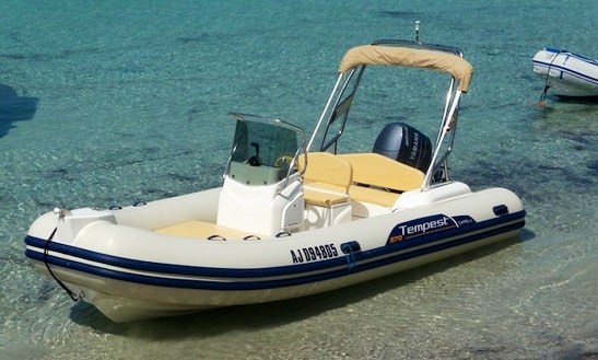 Rent 19' Tempest Rigid Inflatable Boat In Porto-vecchio, France