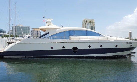 77' Aicon Power Mega Yacht Charter In Cabo San Lucas, Mexico