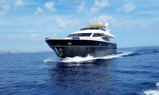 Luxurious 90' Canados Power Mega Yacht Charter In Cabo San Lucas, Mexico