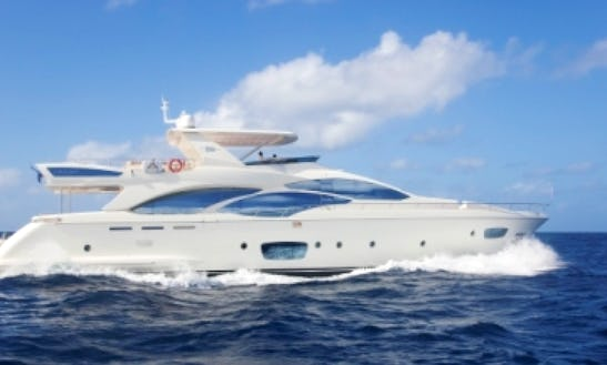 95' Azimut Fly Power Mega Yacht Charter In Cabo San Lucas, Mexico