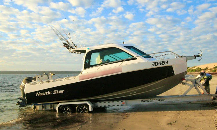 Enjoy Fishing in Port Broughton, South Australia With Captain Michael on 26' Nautic Star Cuddy Cabin