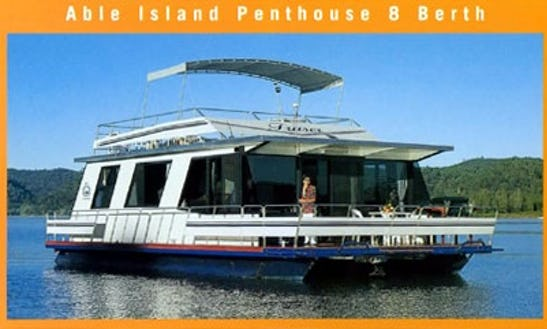 Charter 46' Island Penthouse Houseboat In Wisemans Ferry, New South Wales For 8 Pax