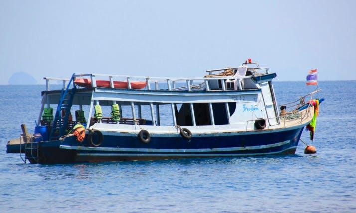 Hit the water of Tambon Ko Lanta Noi, Thailand on a 15 person Trawler