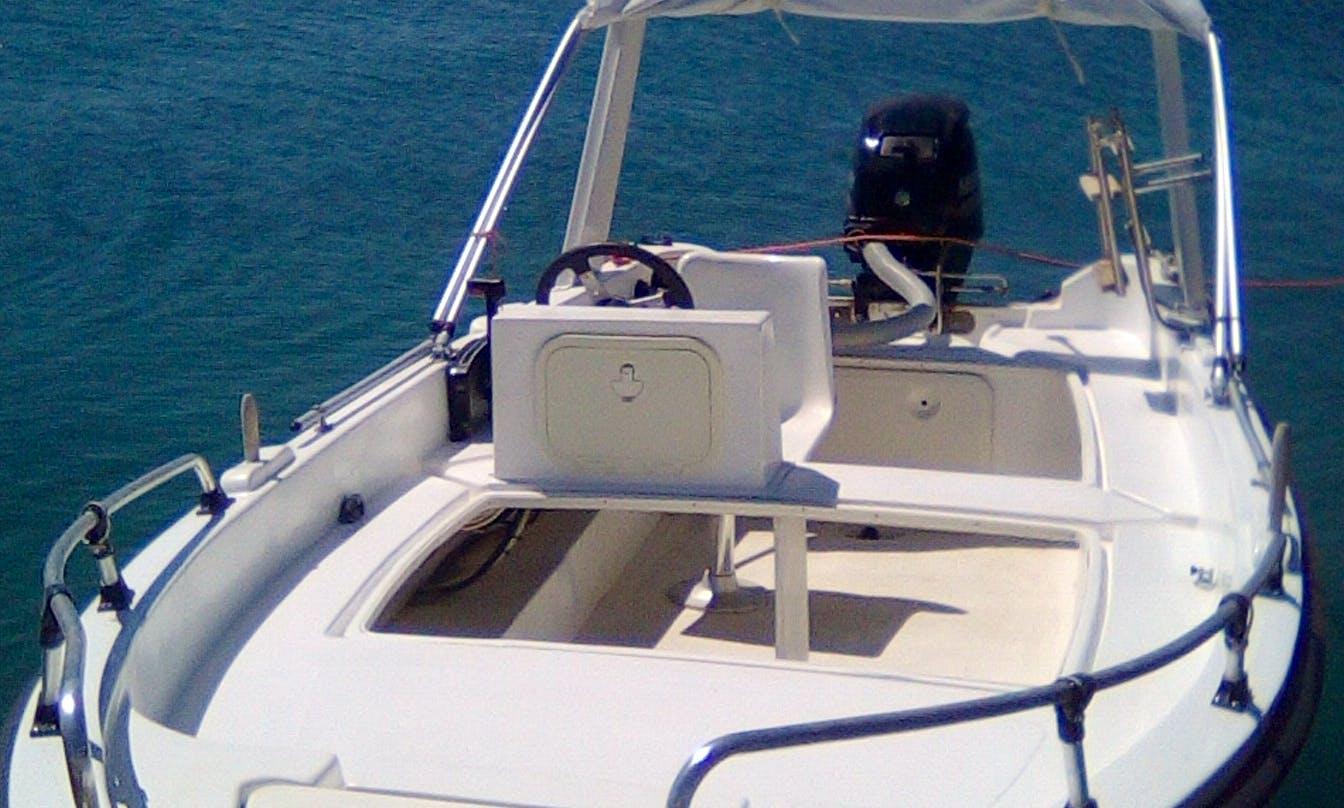 Self-Drive Boat with 30 Hp in Elounda-Crete, Greece
