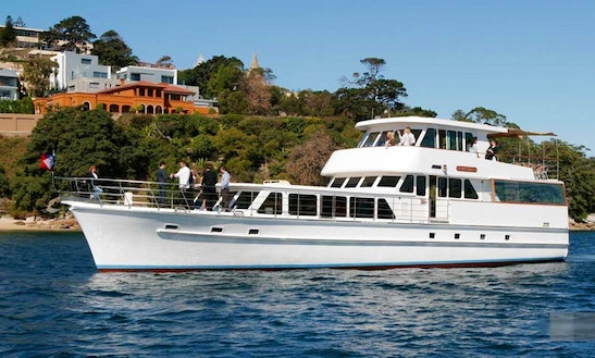 Luxury Sydney Harbour Cruise On 87' Power Yacht