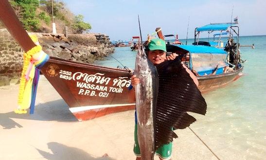 Enjoy Fishing In Krabi, Thailand On A Longtail Boat
