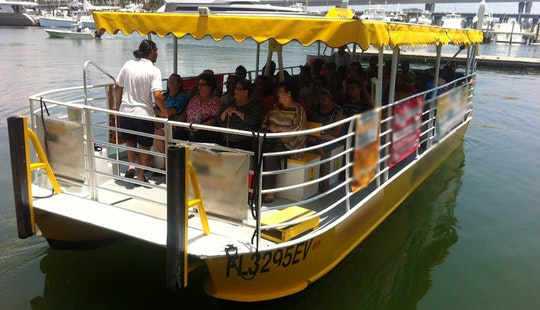 Pontoon Water Taxi For Rent In Miami