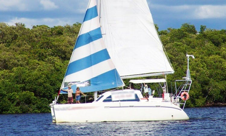 "Charter 35ft ""Old Glory"" Sailing Catamaran In Cape Coral, Florida"