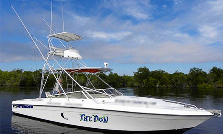 Fishing Charter On 35' Contender Yacht In Crystal River, Florida