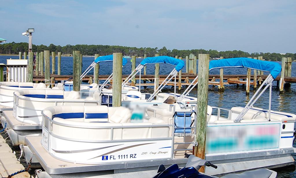 Rent a sunset bay pontoon boat in panama city getmyboat for Bay motors panama city florida