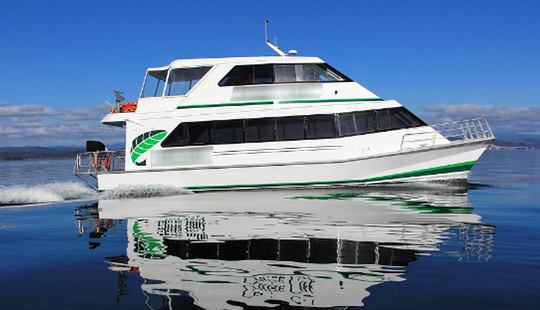 Enjoy Dinner Cruise In Taupo, New Zealand On Power Catamaran