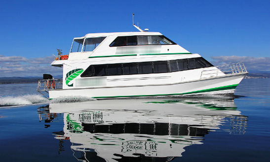 Enjoy Dinner Cruise In Taupo, New Zealand On Power Catamaran