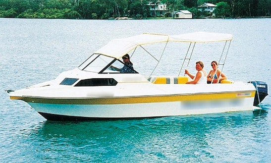 Captained Half Cabin Power Boat Hire In Noosaville, Queensland, Australia