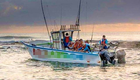 Fishing In Margate, Kwazulu-natal On Center Console