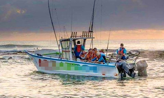 Enjoy Fishing In Margate, Kwazulu-natal On Center Console