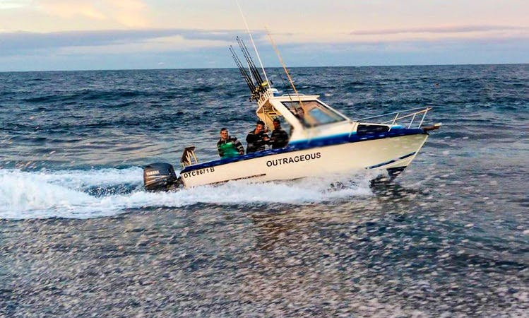 Enjoy Fishing in Cape Town, Western Cape on 22' Depth Charge Ace Craft Cuddy Cabin