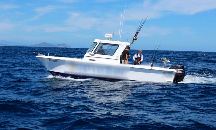 Cape Town Big Game Fishing Charter on a 28' Cuddy Cabin Boat
