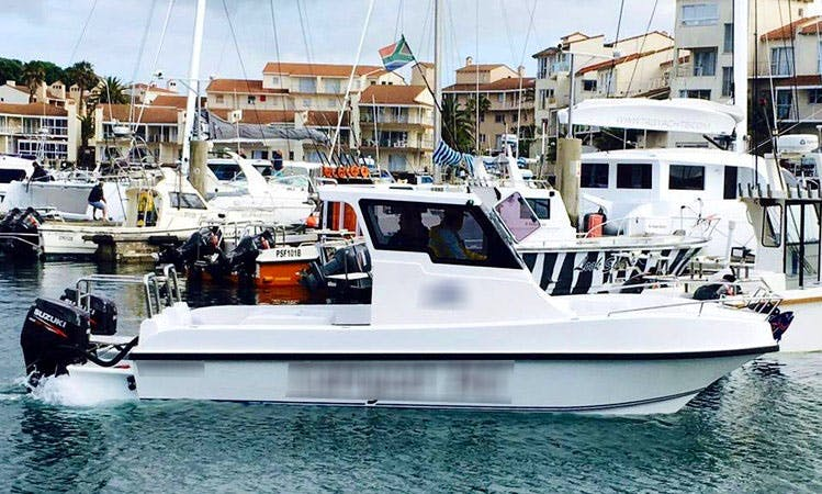 Fishing in Cape Town, South Africa on Carrycat 740 Power Catamaran