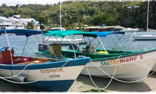 Enjoy Boat Tour On Center Console In Marigot Bay, Saint Lucia