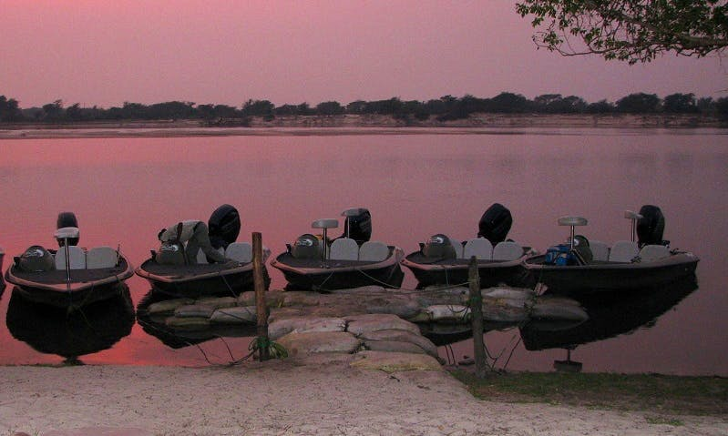 Enjoy Fishing in Western Province, Zambia on Jon Boat