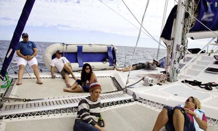 Ocean Sailing Charters on Knysna 440 Sailboat for 12 Person