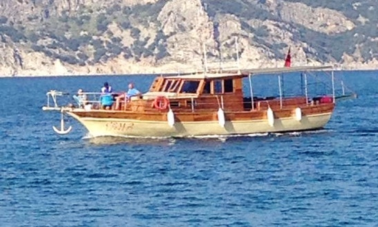 Traditional 12 Person Motor Yacht Ready To Take You Out On The Waters Of Muğla, Turkey