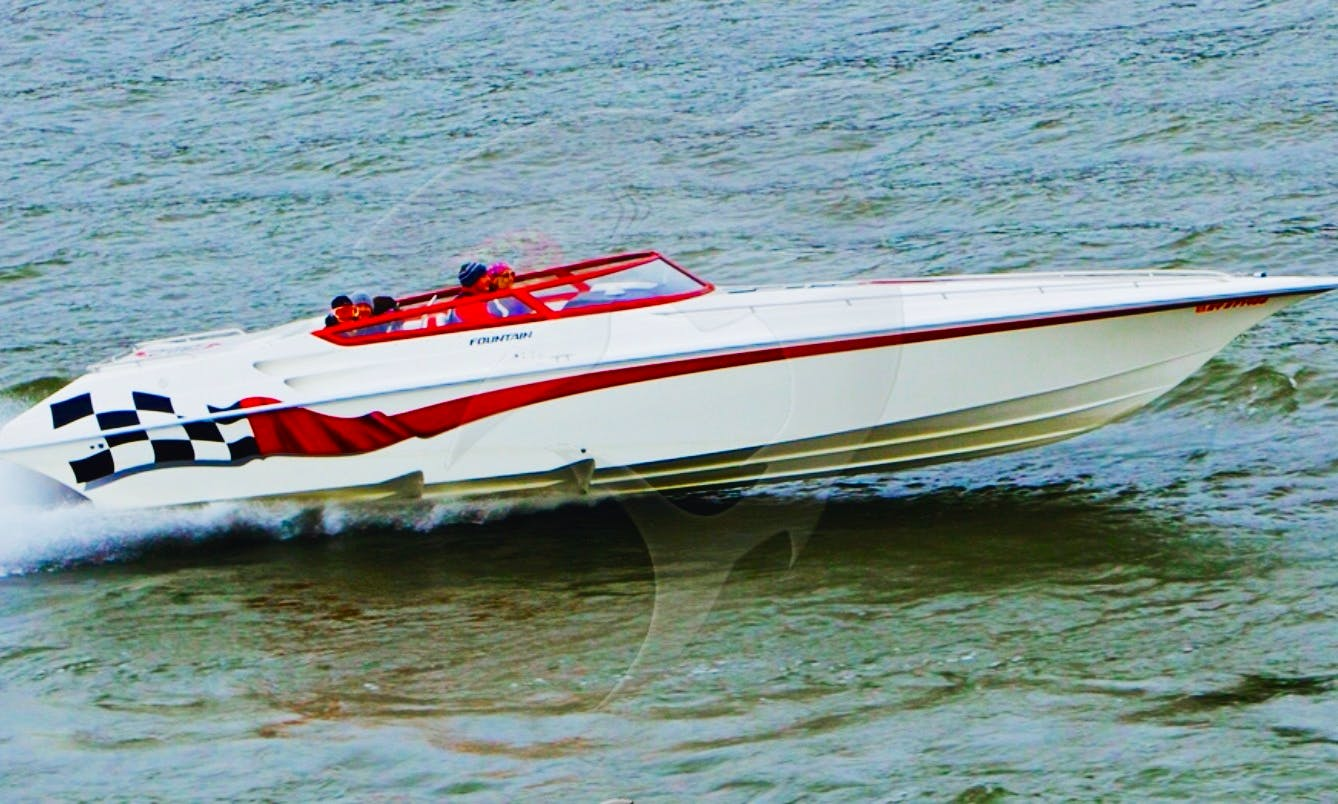 35' Fountain Performance Power Boat on Lake George