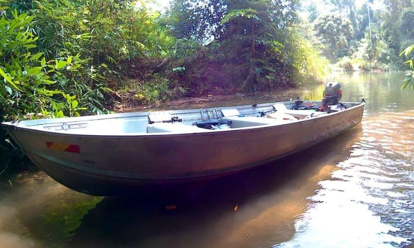 Enjoy Fishing in Puchong, Selangor on Jon Boat