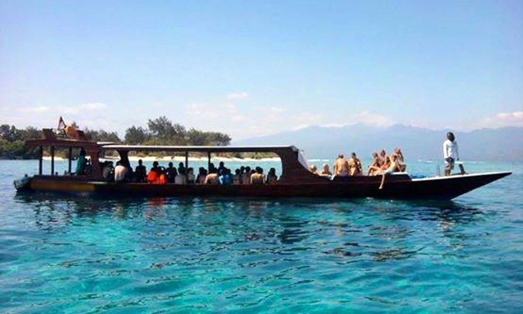 Book a Glass Bottom Boat Snorkeling Tour in Pringgabaya, Indonesia