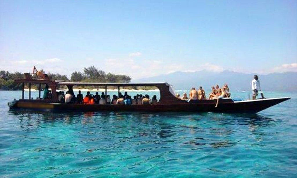 Book a Glass Bottom Boat Snorkeling Tour in Pringgabaya, Indonesia