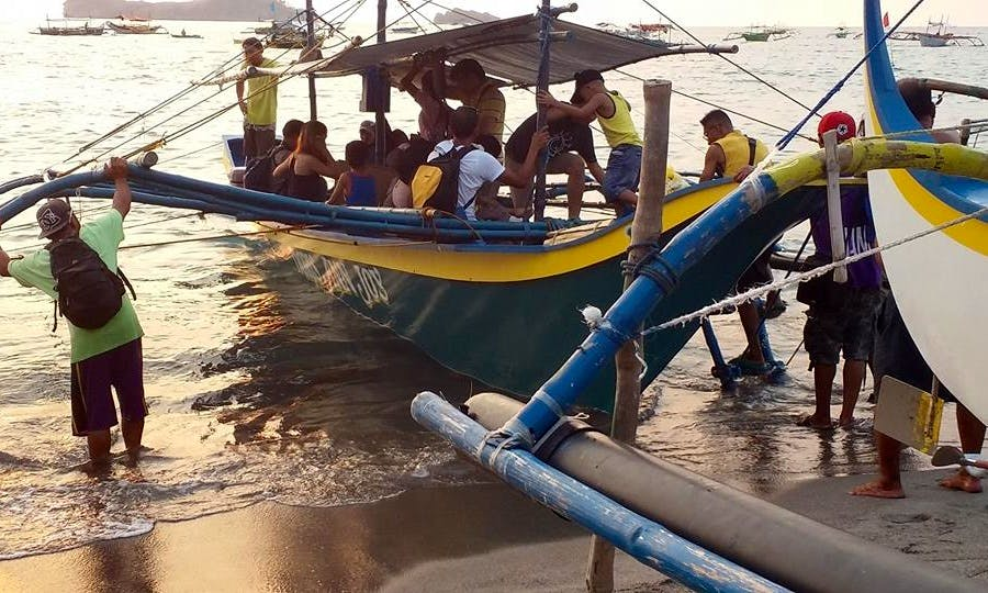 Traditional Boat Rental in San Felipe, Philippines for up to 20 passengers