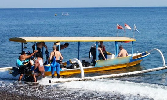 Amed Diving Boat  In Abang
