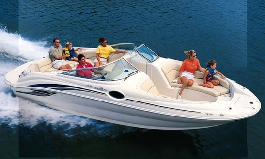 26ft Sea Ray Deck Boat Rental In South Portland, Maine