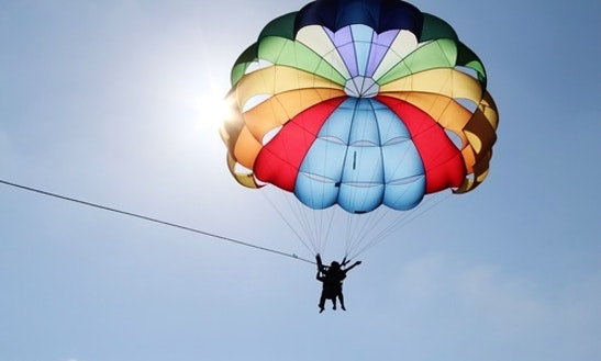 Enjoy An Exciting Parasailing Adventure In Trou D'eau Douce, Mauritius