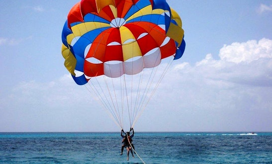 Enjoy Trou D'eau Douce, Mauritius On A Parasailing Adventure