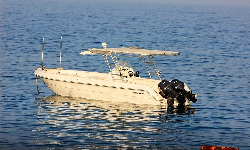 Go Fishing in Hasik, Oman on Center Console